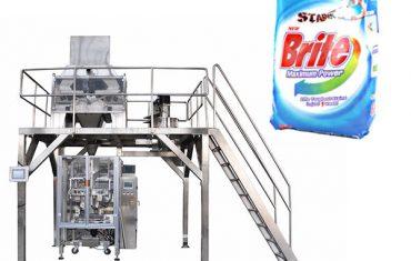 4 գլխի գծային կշեռքի լվացքի լվացքի փոշի փաթեթավորման մեքենա