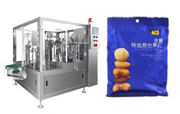 նախնական պատրաստված տոպրակ սննդի հատիկավոր լցնող կնքումը փաթեթավորման մեքենա